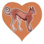 Brown Celtic Brindle Greyhound Heart Sticker