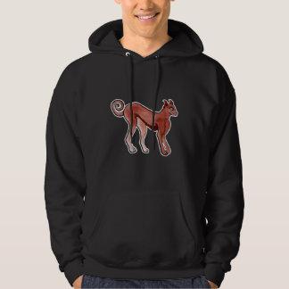 Brown Celtic Brindle Greyhound Hooded Sweatshirt