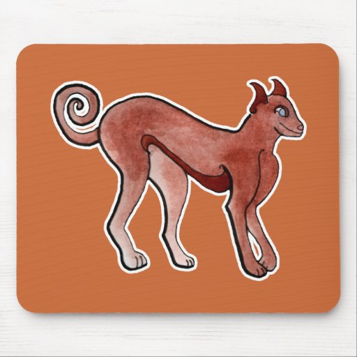 Brown Celtic Brindle Greyhound Mousepads