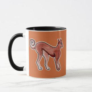Brown Celtic Brindle Greyhound Mug