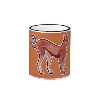 Brown Celtic Brindle Greyhound Ringer Mug