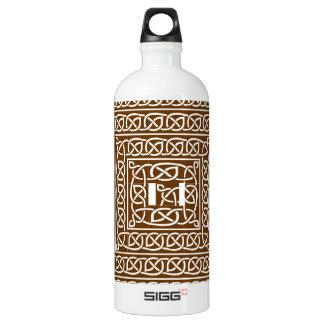 Brown Celtic Design Aluminum Water Bottle