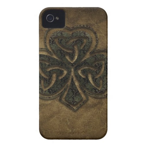 brown celtic knot clover iPhone 4 Case-Mate cases