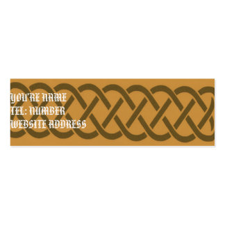 Brown Celtic knot on Yellow Business Cards