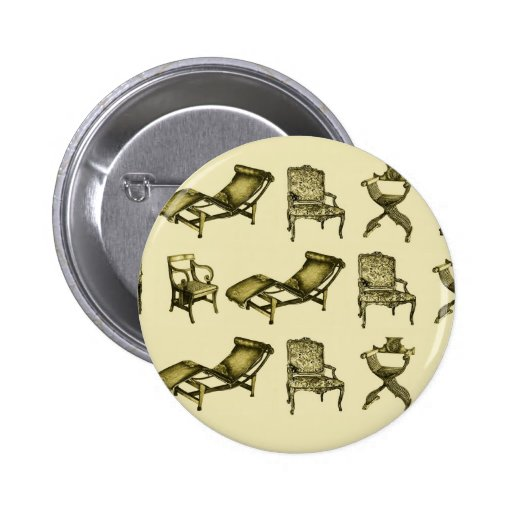Brown chairs pinback buttons