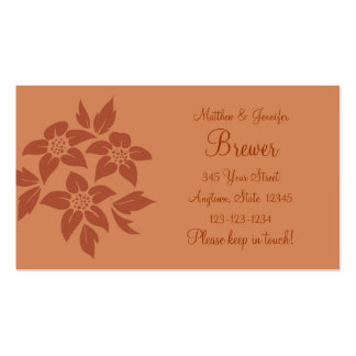Brown Change of Address Contact Information Card Business Card