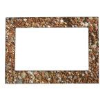 Brown chaos white stone marcos magnéticos para fotos