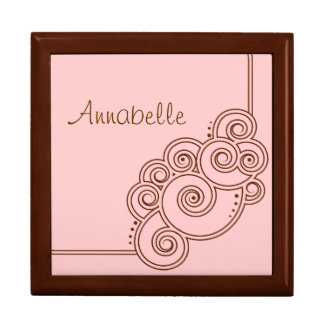 Brown Charming Swirls Gift Box