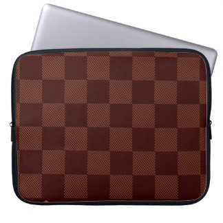Brown checker laptop sleeve