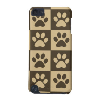 Brown Checker Paw Pern iPod Touch (5th Generation) Case