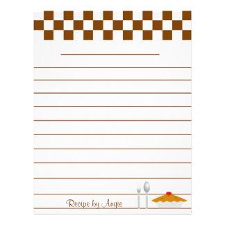 Brown Checkerboard Pies Recipe Paper
