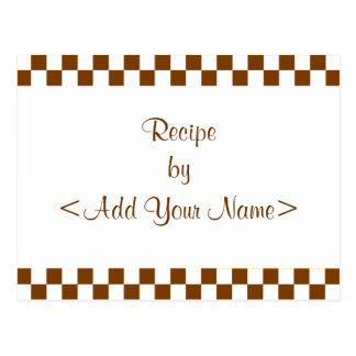 Brown Checkerboard Recipe Cards