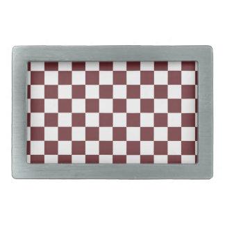 Brown Checkered Pattern Belt Buckles