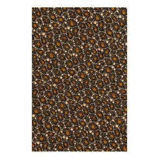Brown Cheetah Abstract Queork Photo Print