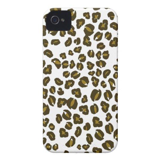 Brown cheetah print fun stylish iphone 4 case-mate