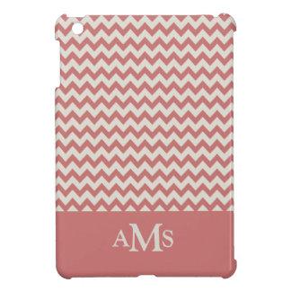 Brown Chevron Stripe 3  Monogram iPad Mini Cases