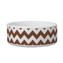 Brown Chevron Zig-Zag Pattern Bowl