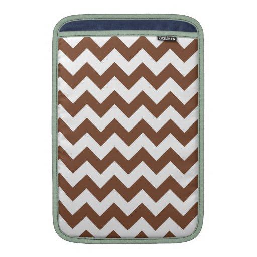 Brown Chevron Zig-Zag Pattern Sleeves For MacBook Air