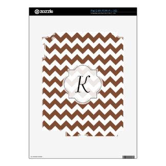 Brown Chevron Zig-Zag Pattern Decal For iPad 2