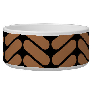 Brown Chevrons, similar to pattern of knitting. Bowl