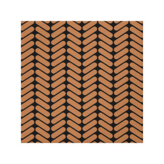 Brown Chevrons similar to pattern of knitting Stretched Canvas Print