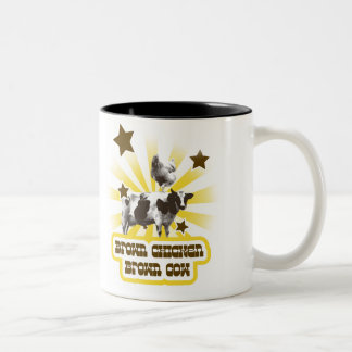Brown Chicken Brown Cow 2 Coffee Mugs