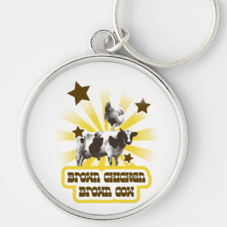 Brown Chicken Brown Cow 2 Key Chain