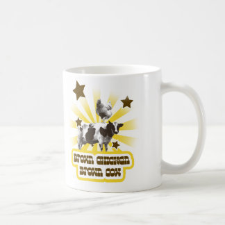 Brown Chicken Brown Cow 2 Mugs