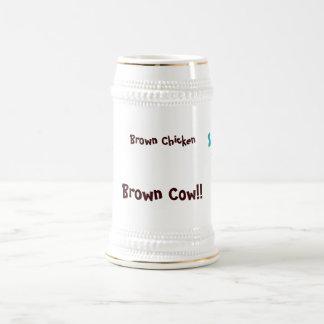 Brown Chicken Brown Cow Beer Stein
