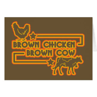 Brown Chicken Brown Cow Card