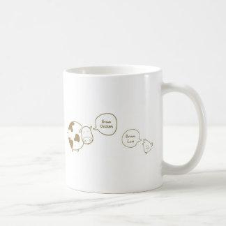 brown chicken brown cow coffee mug