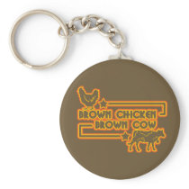 Brown Chicken Brown Cow Keychain