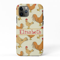 Brown Chicken Design Personalise iPhone 11 Pro Case