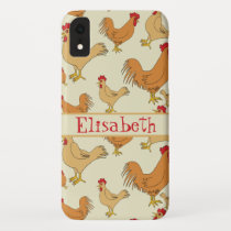 Brown Chicken Design Personalise iPhone XR Case