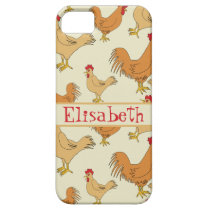 Brown Chicken Design Personalise iPhone SE/5/5s Case