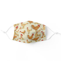 Brown Chickens Adult Cloth Face Mask