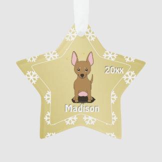Brown Chihuahua Christmas Angel