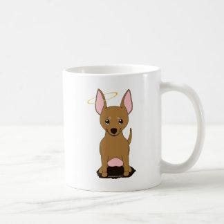Brown Chihuahua Halo Classic White Coffee Mug