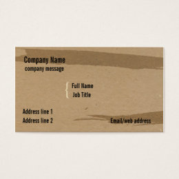 Chipboard business cards templates zazzle brown chipboard business card colourmoves
