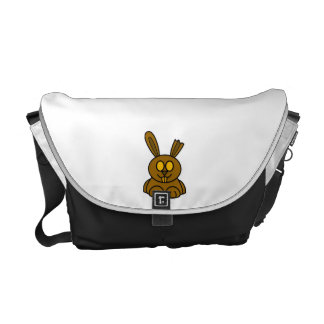 Brown Chocolate Bunny Courier Bag