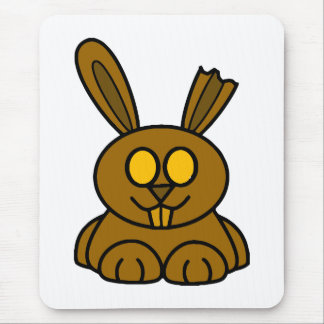 Brown Chocolate Bunny Mouse Pad