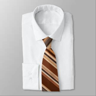 Brown/Chocolate/Coffee Striped Pattern Neck Tie