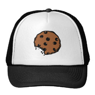 Brown chocolate cookie animated hats