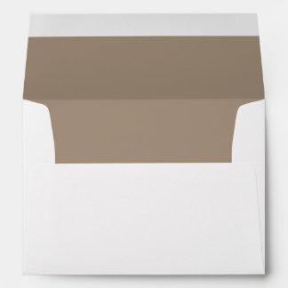 Brown Chocolate Light Invitation Envelope