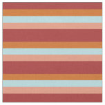 [ Thumbnail: Brown, Chocolate, Powder Blue & Dark Salmon Lines Fabric ]