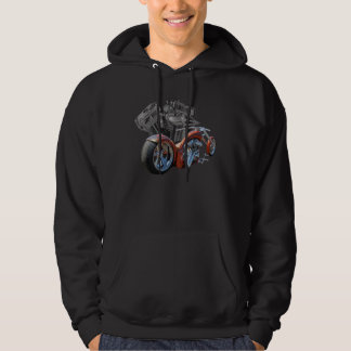 Brown Chopper bike Hoodie