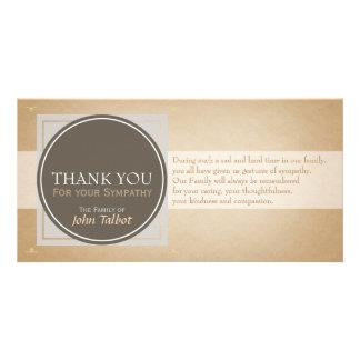 Brown Circle G Square Tags Sympathy Thank you P Card