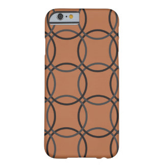 Brown Circles Barely There iPhone 6 Case