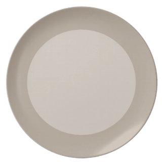 Brown Circles Melamine Plate