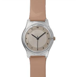 Brown Circles Wrist Watch